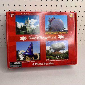 Walt Disney World Parks Four Photo Puzzles NEW